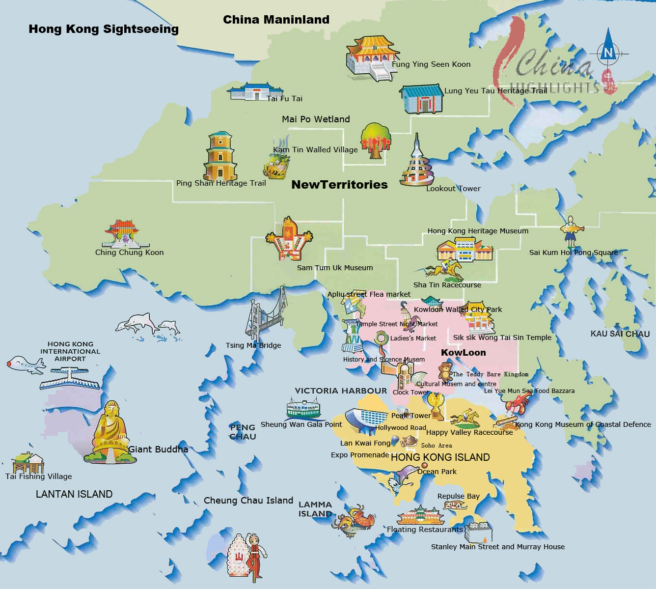 hong-kong-the ultimate guide easy-map