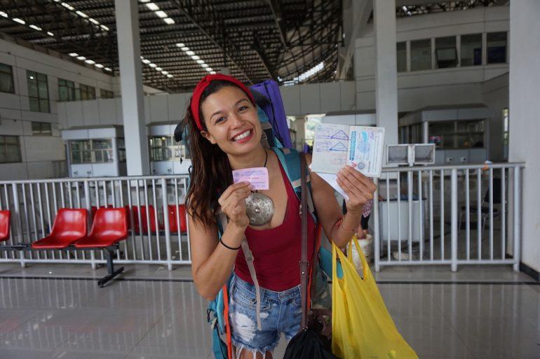 traversée frontière Thailande Laos
