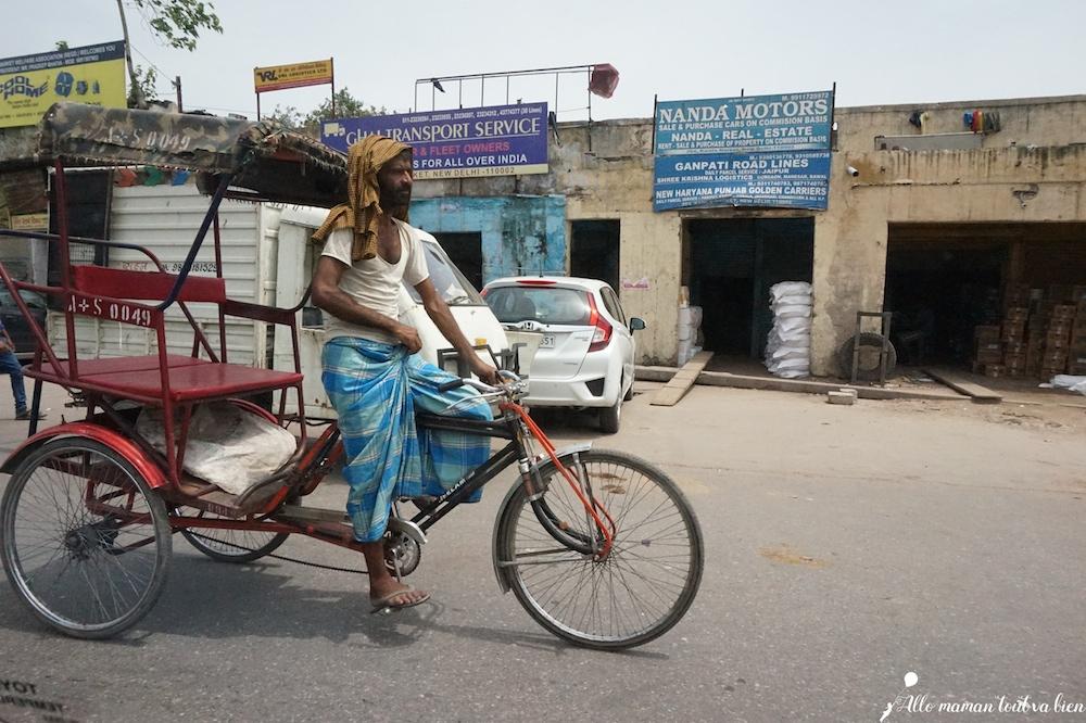 Bienvenue en Inde New Delhi Rickshaw