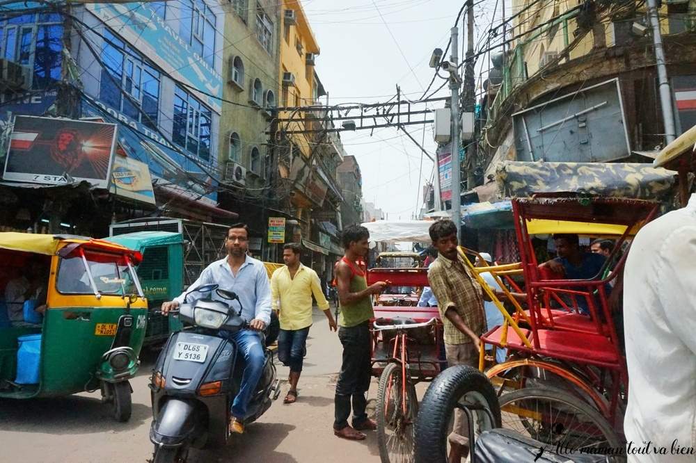 bienvue en Inde, rues de new delhi