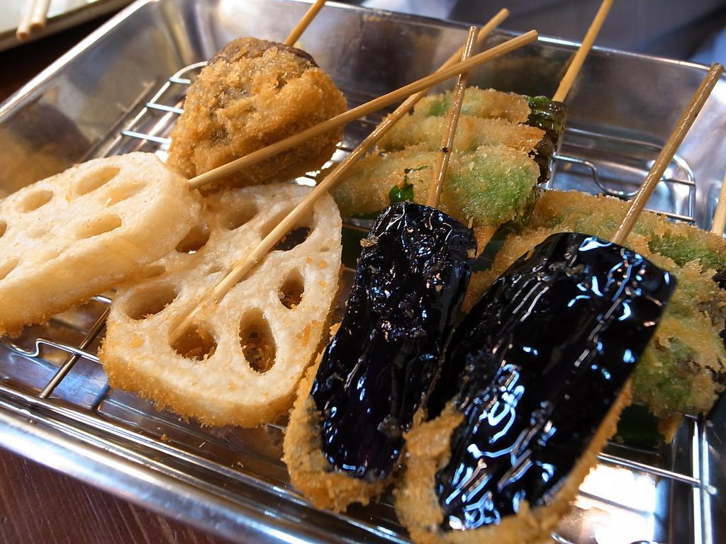 Japanese gastronomy kushikatsu