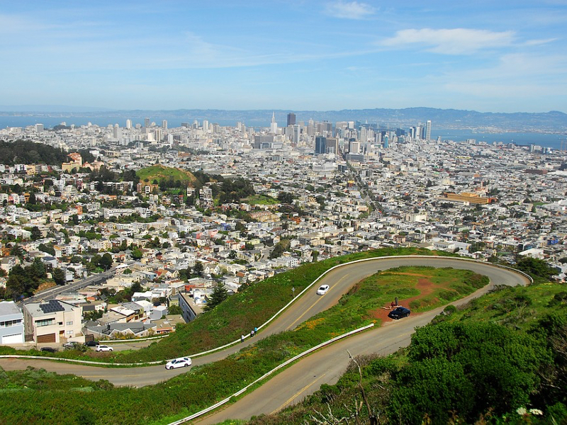 san francisco attractions immanquables Twin Peaks